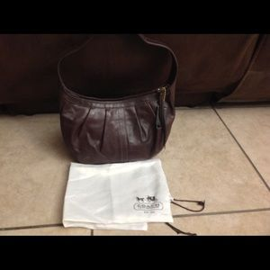 COACH Madison Brown Leather Hobo Bag
